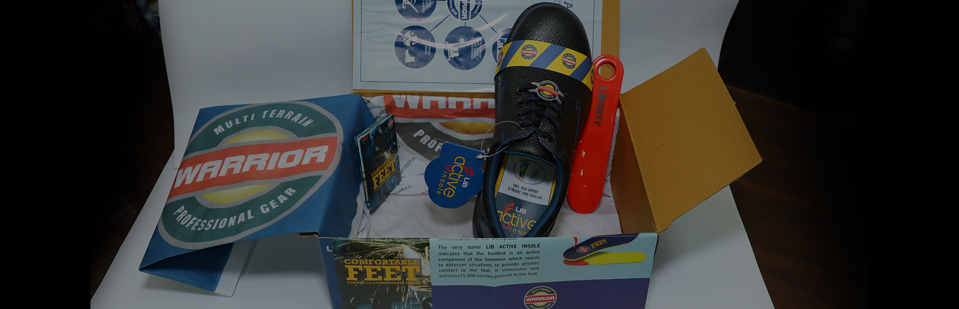 safety shoes packing